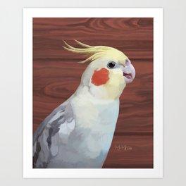 Cockatiel smile Art Print