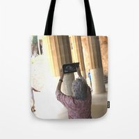 technology Tote Bags featuring damn technology! by Gian...