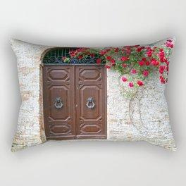 Italian Red Roses Rectangular Pillow