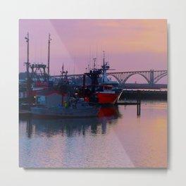 Pink Harbor Metal Print