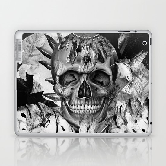 Black White Boho Skull by haroulita