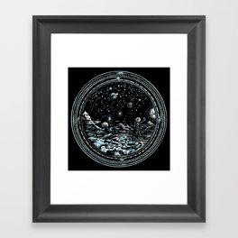 Miniature Circle Landscape 2: Astronausea.. Framed Art Print