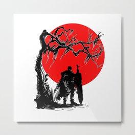 Samurai sun Metal Print