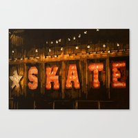 skate Canvas Prints featuring Skate by Errne
