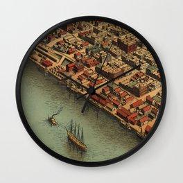 Vintage Panoramic Map Eureka Wall Clock
