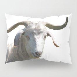 Portrait of a Horned Goat Grazing Vector Pillow Sham