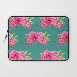 A FLORAL LOVE  (TURQ/LRG) Laptop Sleeve