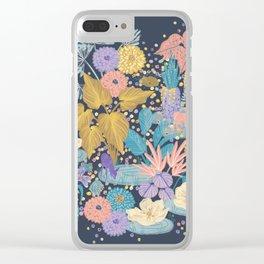 Terrazo Garden Clear iPhone Case
