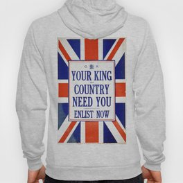 Vintage poster - Your King and Country Need You Hoody