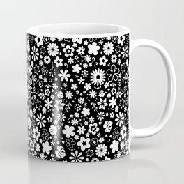 ZARAS FLOWER GARDEN BLACK AND WHITE Coffee Mug