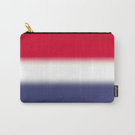 Red White and Blue Gradient Ombré Carry-All Pouch
