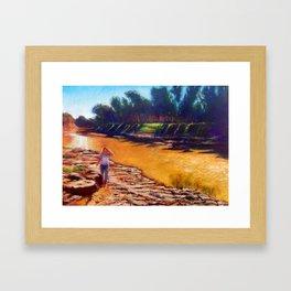 Golden River Framed Art Print