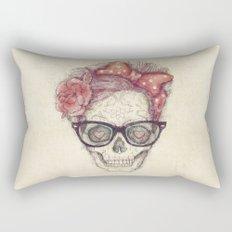 Hipster Girl is Dead Rectangular Pillow