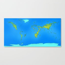 Map of Earth 2200 Canvas Print
