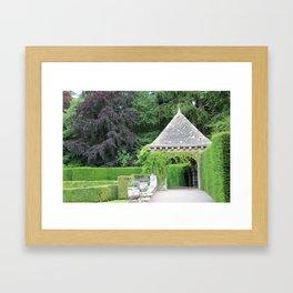 Gazebo dans le Jardin Italien Framed Art Print