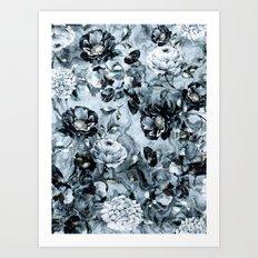 Black Flowers Art Print