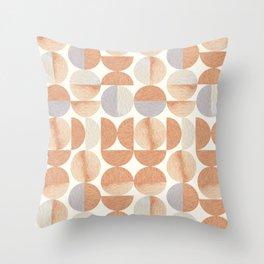 Mid-century Modern Tea Colors Throw Pillow