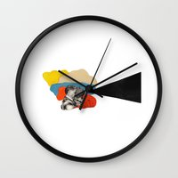 cinema Wall Clocks featuring Cinema by Francisca Pageo