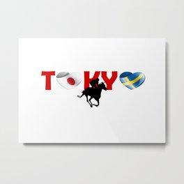 Equestrian eventing team of Sweden in Tokyo, Japan Metal Print