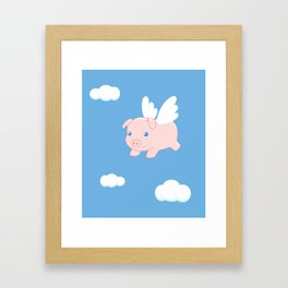 Flying Pig Framed Art Print