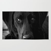 lab Area & Throw Rugs featuring Loyalty  Black Lab  by Peggy Franz   Photography   FranzsFeatur