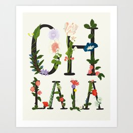 OH LA LA Art Print