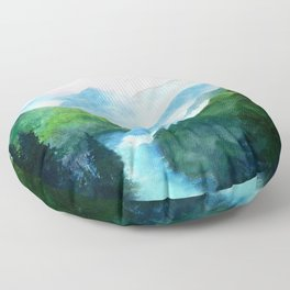Mountain River Floor Pillow
