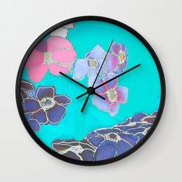Teal Spring Wall Clock