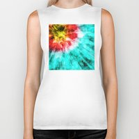 tie dye Biker Tanks featuring Colorful Tie Dye by Phil Perkins