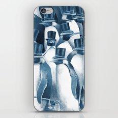 A Gathering of Gentlemen (square format) iPhone Skin