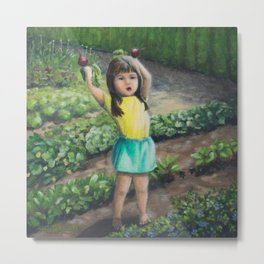 She's Got the Beets, Growing Food and Growing Children Metal Print