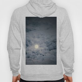 Full Moon with clouds at Night, Dramatic clouds in the moonlight Hoody