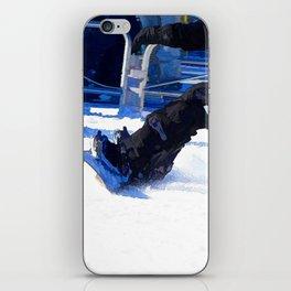 Snowboarder Skidding Winter Sports Gift iPhone Skin