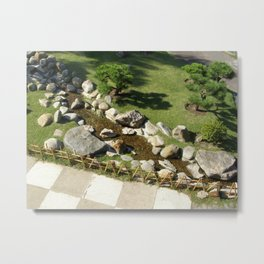 Riven in Japanese Garden Metal Print