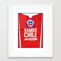 chile Framed Art Prints featuring Chile by liamhohoho