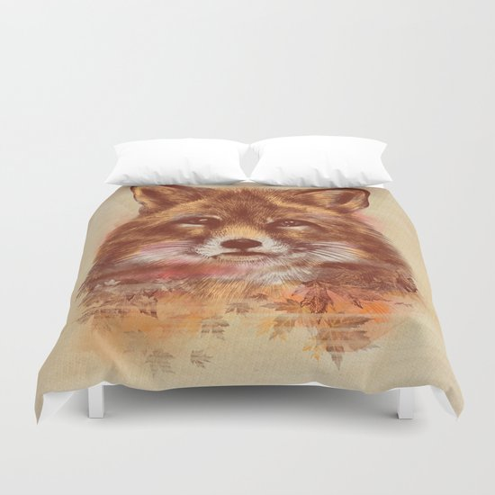 The Red fox Duvet Cover