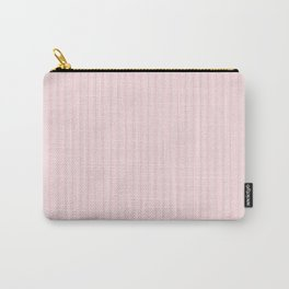 Pale Millennial Pink Pastel Color Mattress Ticking Stripes Carry-All Pouch