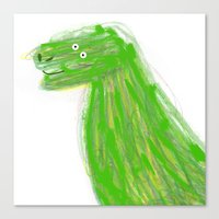 dinosaur Canvas Prints featuring DINOSAUR  by Lydia Coventry