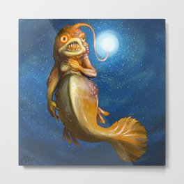ANGLERFISH MAIDEN Metal Print