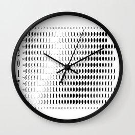2017 moon phases Wall Clock
