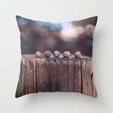 5 Acorns Throw Pillow