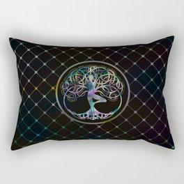 Glowing symbol for Vriksasana - Yoga Tree pose Rectangular Pillow