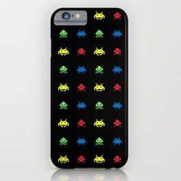 invaders in space iPhone Case