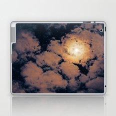 Full moon through purple clouds Laptop & iPad Skin