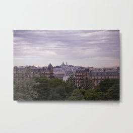 View of Montmartre from Parc des Buttes Chaumont in Paris Metal Print