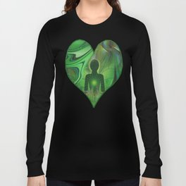 Heart Chakra Energy. Long Sleeve T-shirt