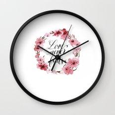 Love Never Fails Wall Clock
