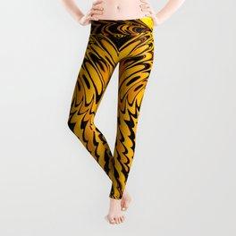 Liquidelica   Orange+Black Leggings