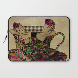 Chit chat over coffee Laptop Sleeve