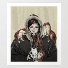 SKAÐI - Dweller of the Rocks Art Print